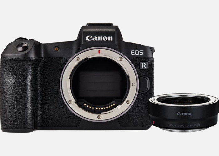 Canon EOS R with mount adapter for EF lenses - 1