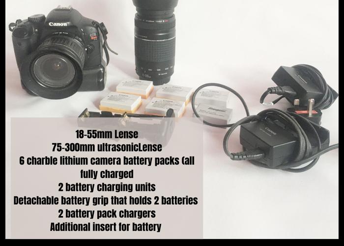 Canon EOS Rebel T2i DSLR Camera Bundle - 1