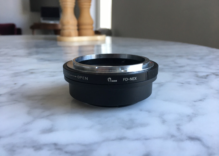Canon FD 50mm f1.4 S.S.C + E-mount (Sony) adapter - 2