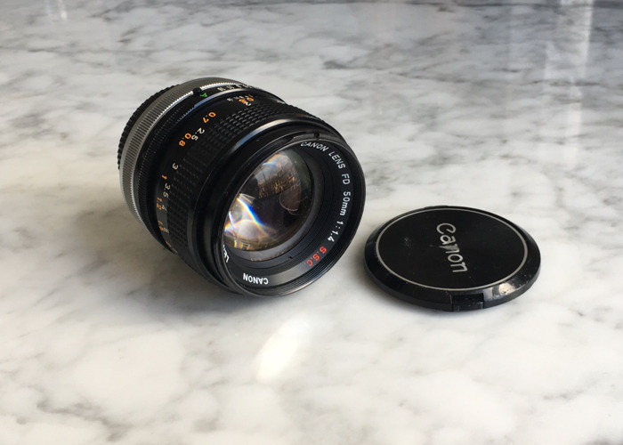 Canon FD 50mm f1.4 S.S.C + E-mount (Sony) adapter - 1