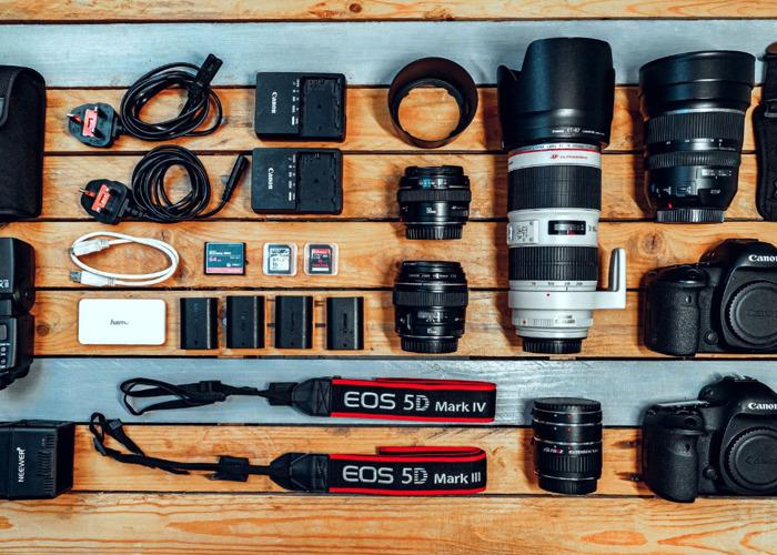 Canon Full Package - Canon 5D Mk IV / Canon 5D Mk III / Canon 70-200 2.8 / Canon 85 1.8 / Canon 50 1.4 / Tamron 15-30 2.8 / Canon Speedlite 430EX II - 1