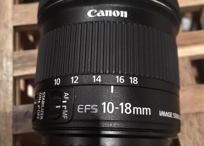 Canon lens 10-18 - 1
