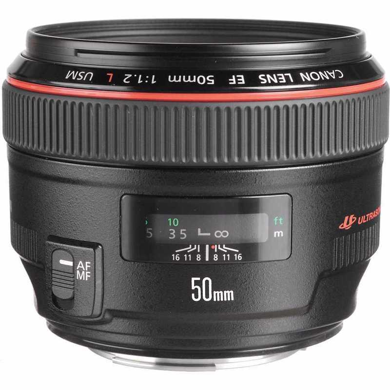 Canon 50mm f/1.2 Lens - 1