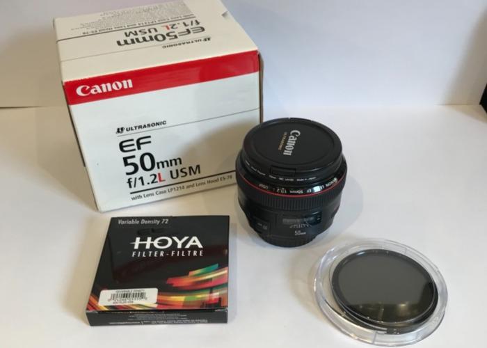 Canon  Lens EF 50mm f 1.2 L USM  Camera - 1