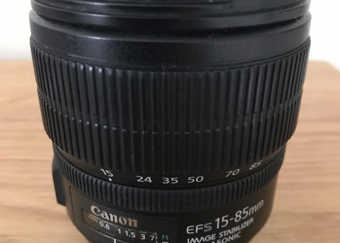 Canon lens EF-S 15-85mm f3.5-5.6 IS USM  - 1
