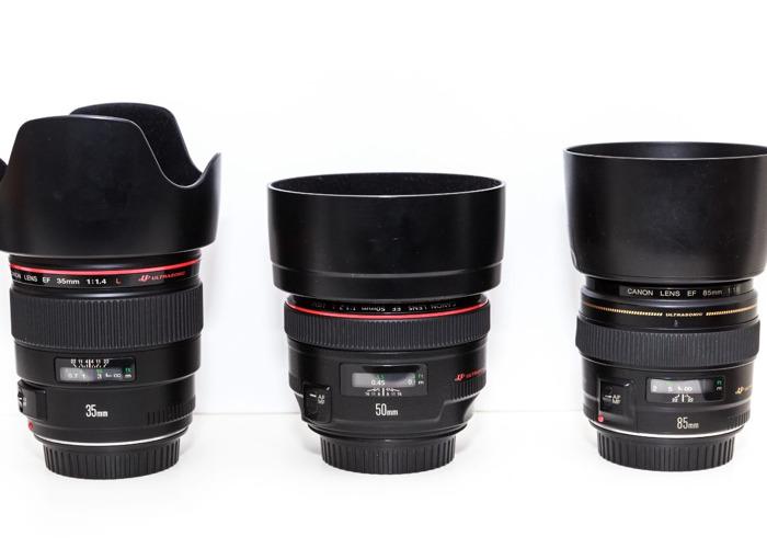 Canon 35mm, 50mm, 85mm Lens Kit - 2