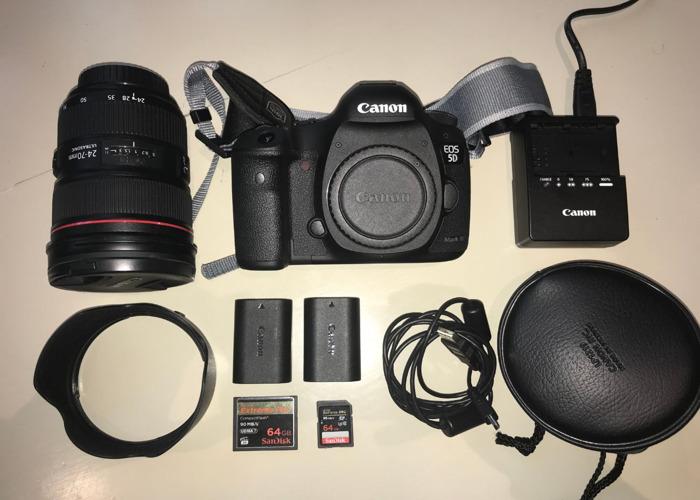 Canon 5D Mark III Kit + Canon EF 24 - 70mm f/2.8 - 2