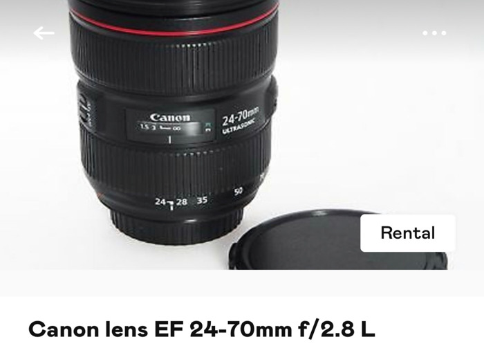 Canon mark iv 4 with 24-70mm lens - 2