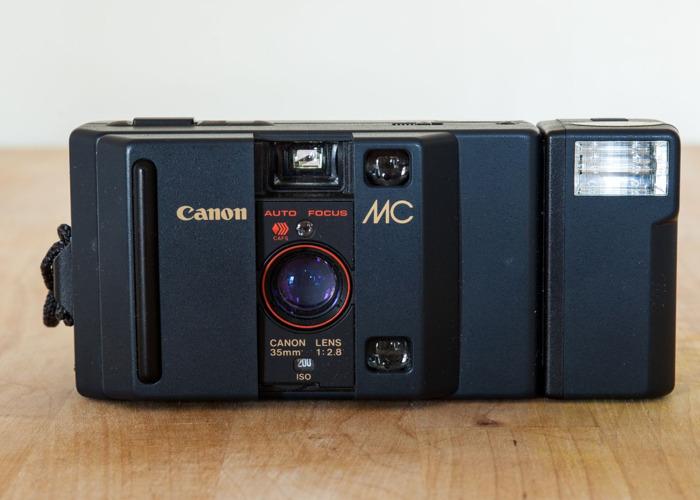 Canon MC Auto 35mm Camera + Flash attachment - 1