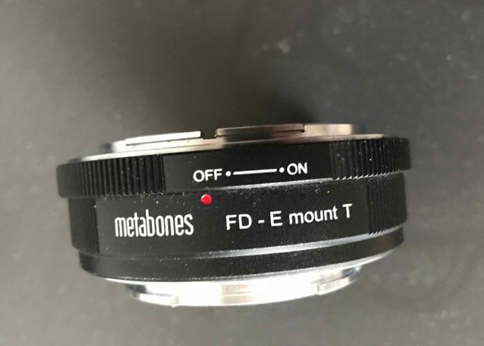 Canon Metabones FD to E mount Adaptor - 1