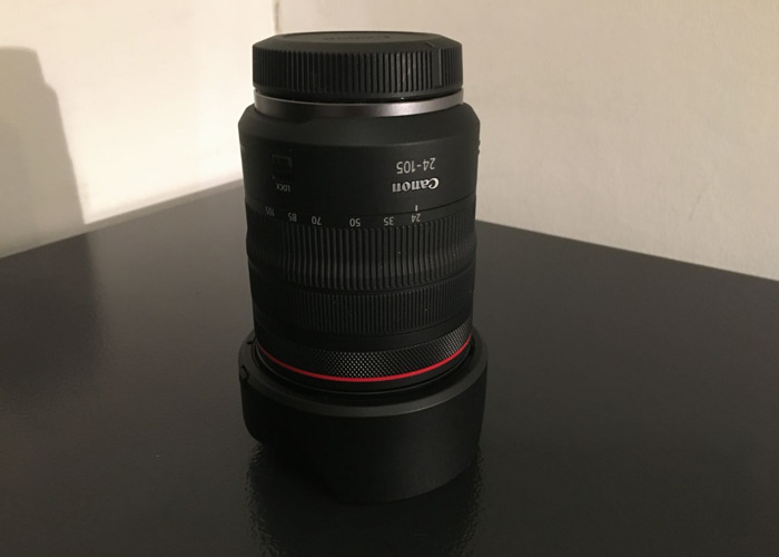 Canon RF with 24-105 Lens with variable ND filter - 1