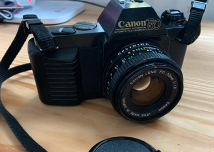 Canon T50 film camera with FD 50mm 1:1.8 lens - 2