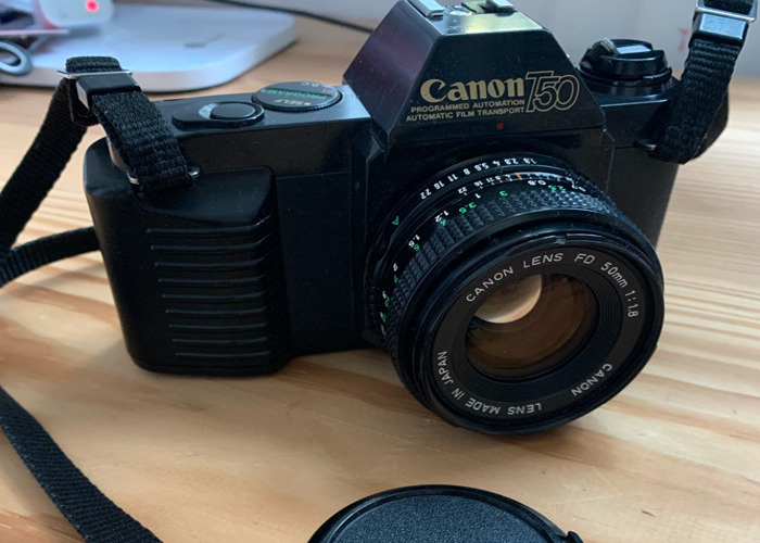 Canon T50 film camera with FD 50mm 1:1.8 lens - 1