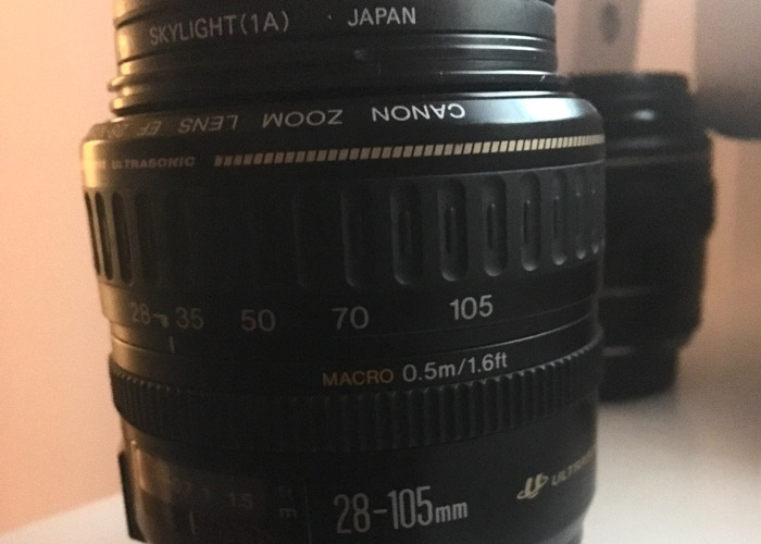 Canon Zoom Lens EF 28-105mm 1:3.5-4.5 (with Skylight Filter) - 1