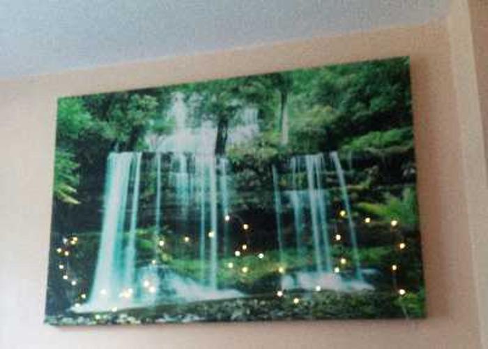 Canvas wall art green - 1