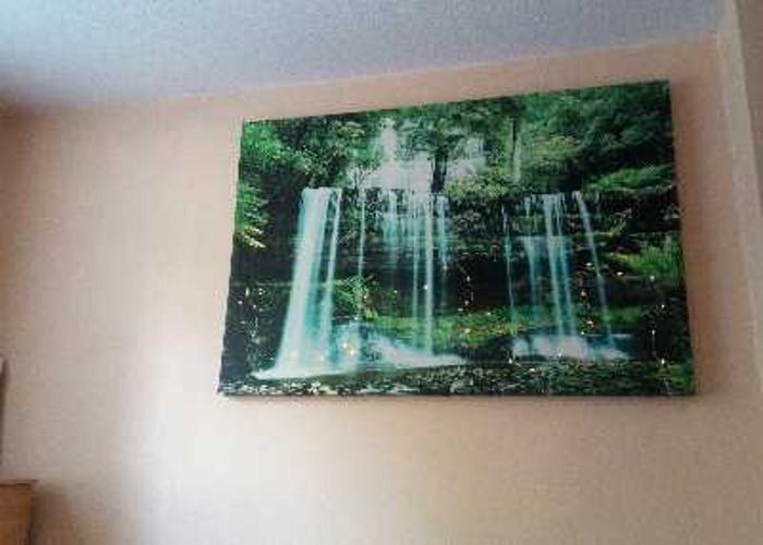 Canvas wall art green - 2