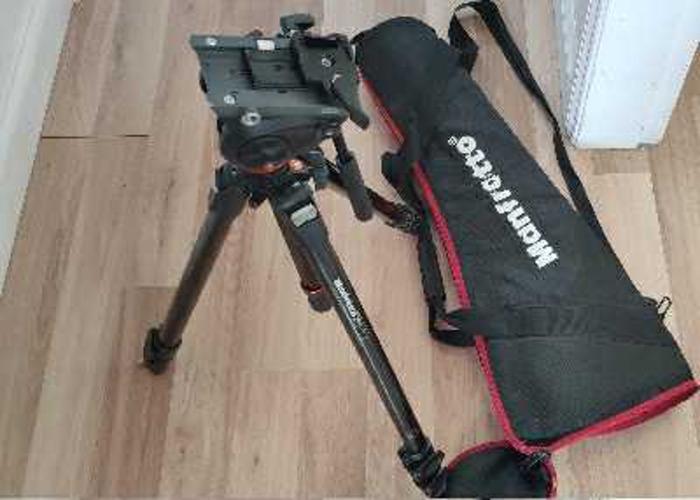 MANFROTTO 755CX3 Carbon Fibre Professional Video Tripod - 2