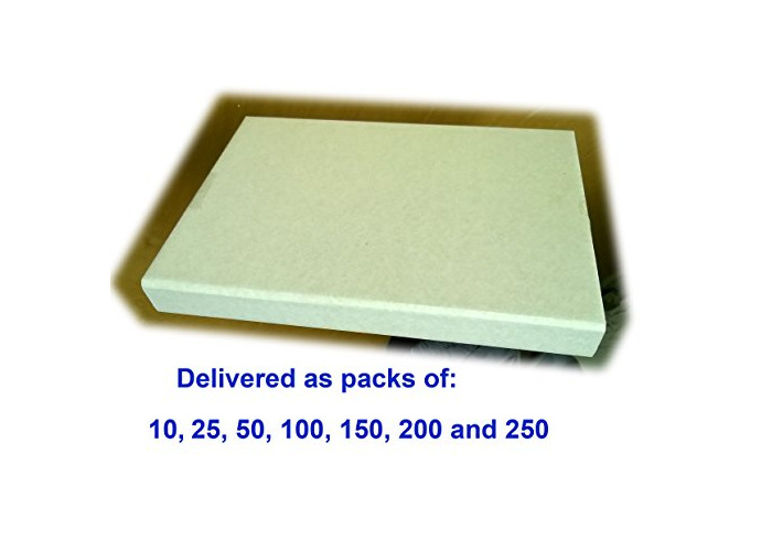 Cardboard Book Mailers/Book Wraps/Small A4 Postal Boxes 300 x 215 x 35 - White Single Wall (25) - 1