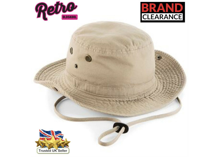 Cargo Bucket Safari Hat Outback UF50 Sun Olive Cream Black Mens Ladies - 2