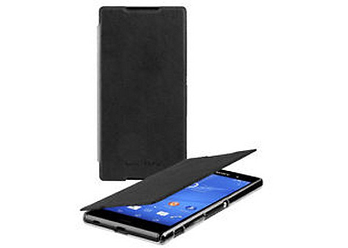 Case Cover original SONY gel shell SMA5157B Flip Case for xperia Z3 + Black + screen protector + cleaning cloth Digital Bay Kit 3in1 - 1
