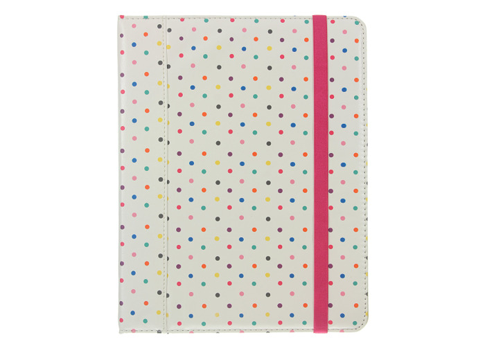 Caseit Folio Case Cover with Built-In Stand for iPad 2/3/4 - Polka Dots - 2