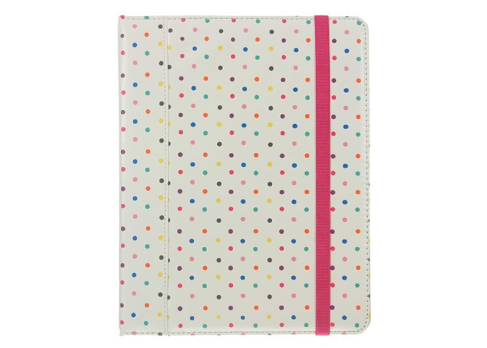 Caseit Folio Case Cover with Built-In Stand for iPad 2/3/4 - Polka Dots - 1