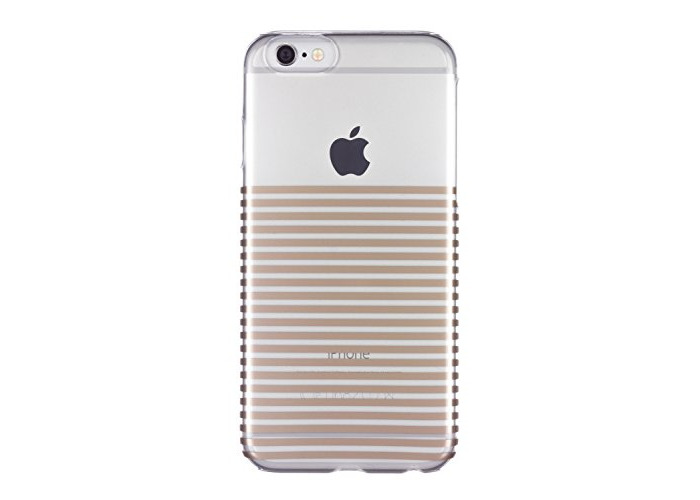 Caseit Inspire Clip-On Hard Shell Case Cover for iPhone 6/6S 4.7 inch - Gold Stripes - 1