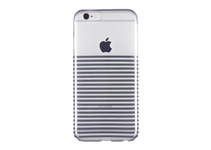 Caseit Inspire Clip-On Hard Shell Case Cover for iPhone 6/6S 4.7 inch - Silver Stripes - 2