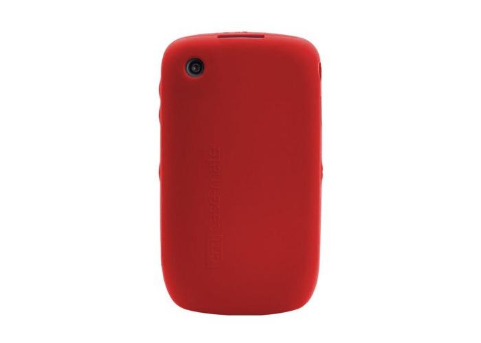 Case-Mate Blackberry Curve 8520 Safe Skin Case Cover Red - 2