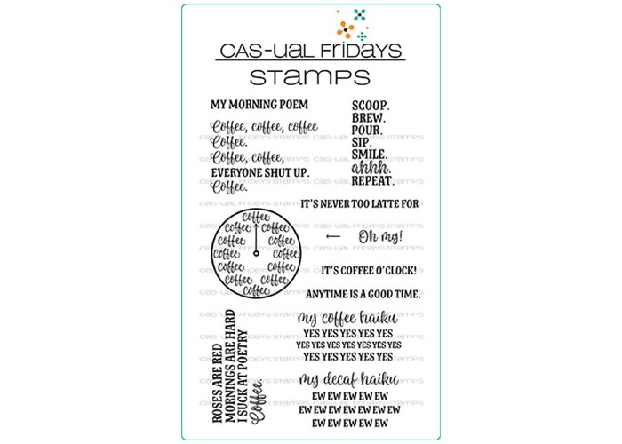 CAS-ual Fridays Time for Coffee Stamp Set - 1