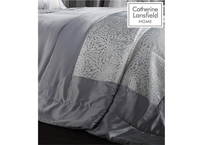 Catherine Lansfield Luxor Jacquard Bedspread Silver, 240x260cm - 1