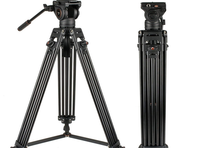 Cayer filming tripod with fluid head and carrier bag - 1