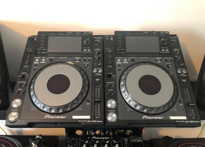 2 x CDJ 2000 Nexus & DJM 800 Mixer - Industry Standard - 1