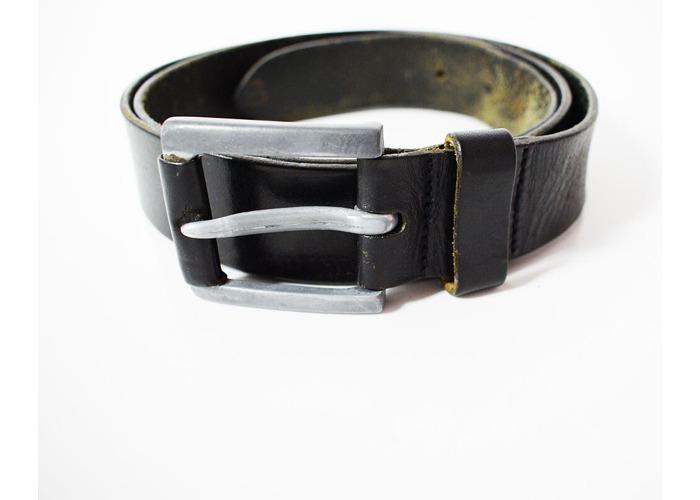 Celio Vintage Mens Leather Belt Black Size 36 - 1