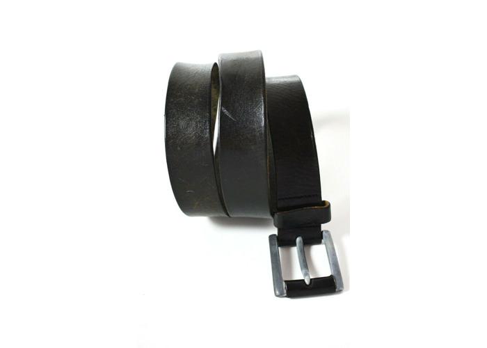 Celio Vintage Mens Leather Belt Black Size 36 - 2