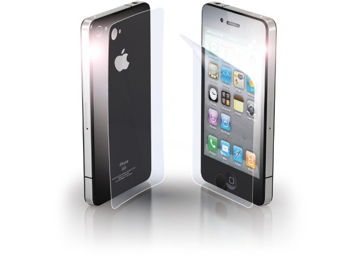 Cellular Line Anti-Trace Front and Back Protective Film Kit for iPhone 4 - 1
