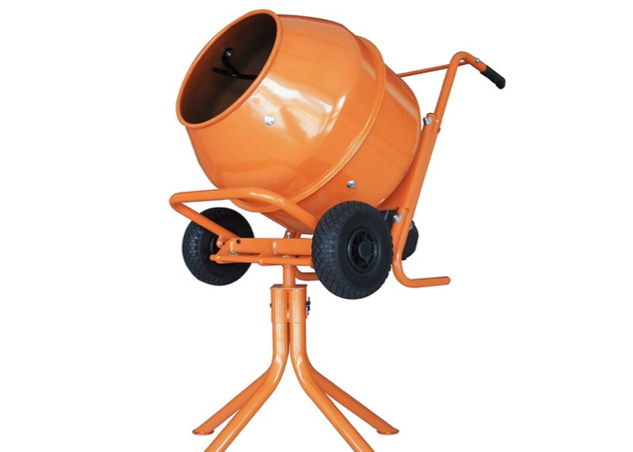 Cement mixer 240v electric + stand  - 1