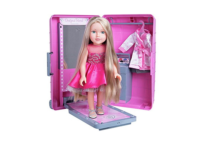 Chad Valley DesignaFriend Harper Doll With Style and Go Suitcase - 1