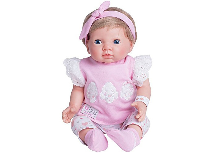 Chad Valley Tiny Treasures Newborn Doll with Pink Outfit. - 1