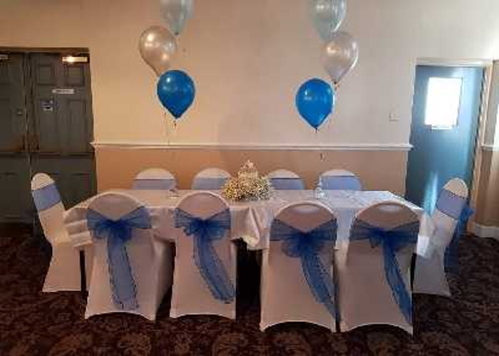 Chair Covers and Royal Blue Sashes (x100) - 1