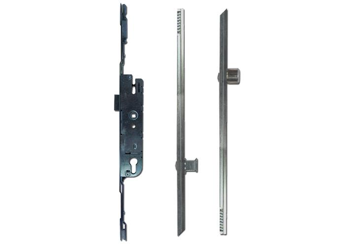 CHAMELEON Adaptable Multipoint Lock 2 Mushroom & 2 Roller + Keeps - 28mm Backset - 1