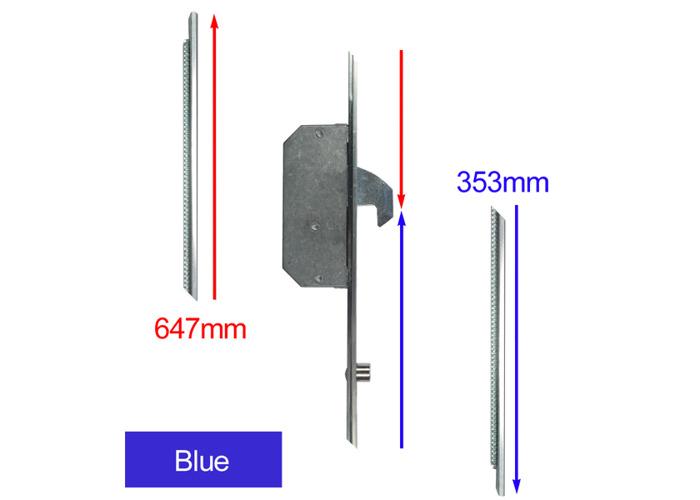 CHAMELEON Extension Set - Hook & Roller - Blue Supplied With Keeps - 1