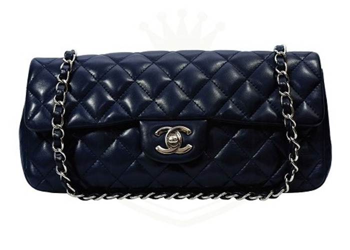 93ae86d8fab4 CHANEL Navy Single Flap Soft Leather Medium Size Free UK Delivery - 1