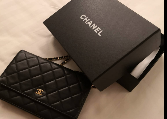 chanel wallet on chain black - 1