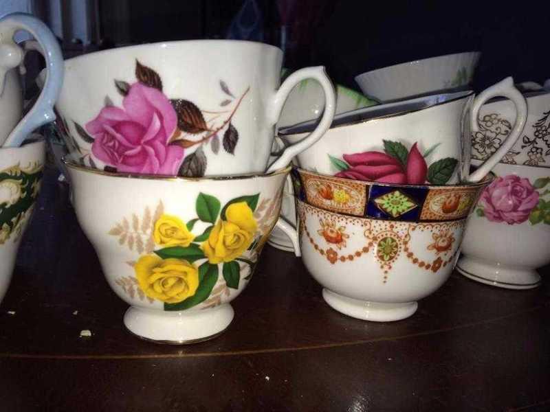 china teacups, saucers, sideplates - 2