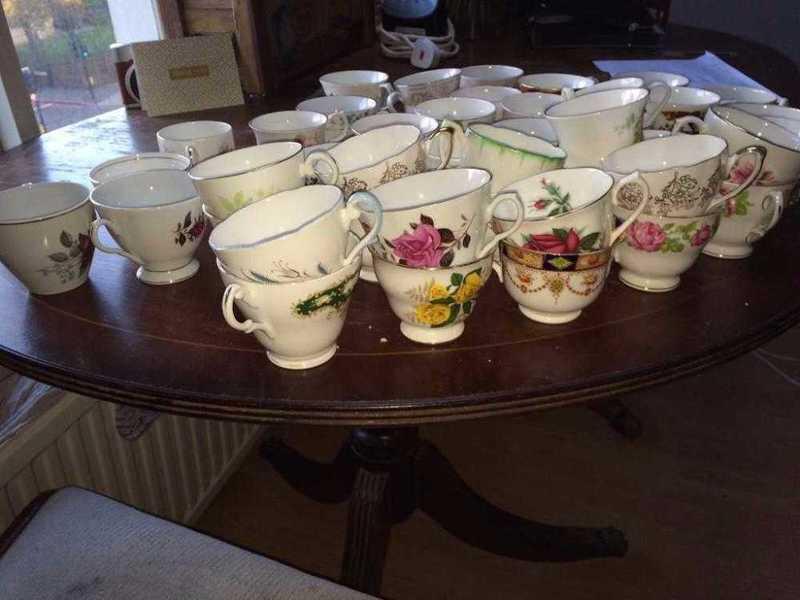china teacups, saucers, sideplates - 1