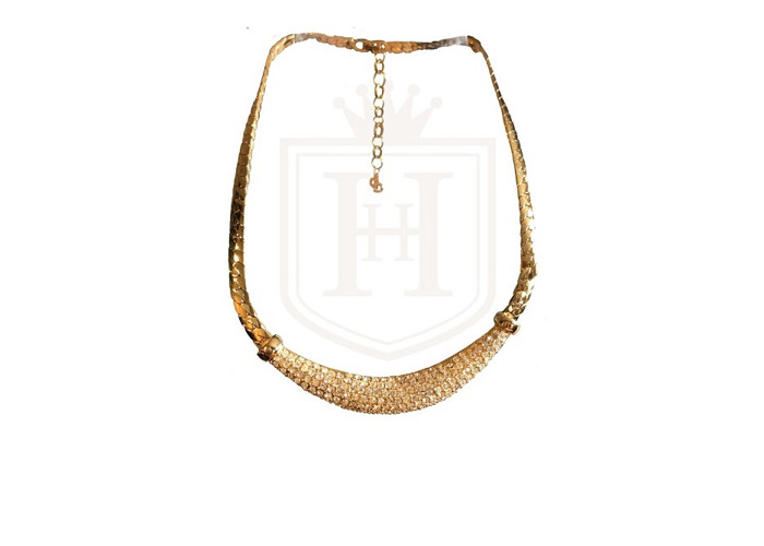 Rent Christian Dior Crystal Gold-plated Necklace 47cm Free UK Del in London