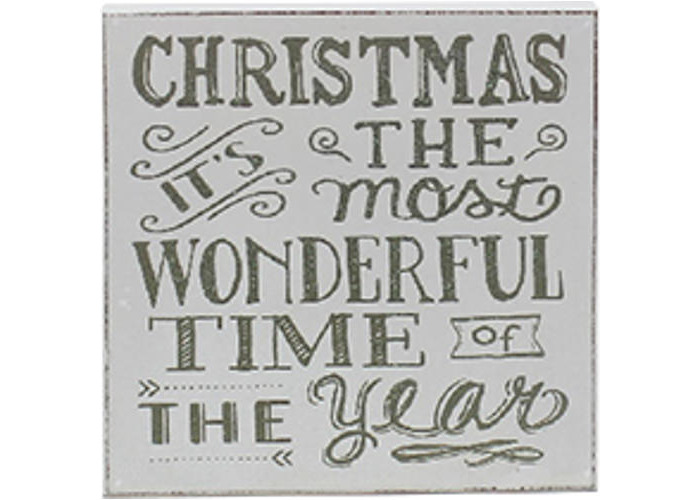 Christmas - It's The Most Wonderful Time Of The Year Plaque - 1