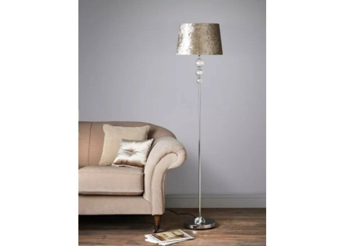 Luxe Crystal Crushed Velvet Table Lamp
