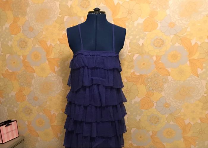 Cibalt Blue Ruffle Flapper Style Dress - 1